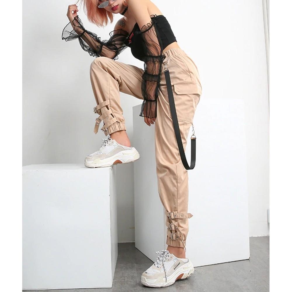 Pantaloni Lungi Bej Cargo