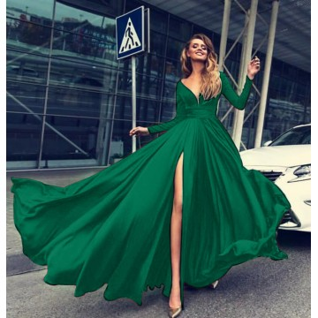 Rochie Lunga Verde Charlotte