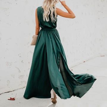 Rochie Lunga Verde Amelie
