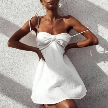 Rochie Scurta Alba Summer